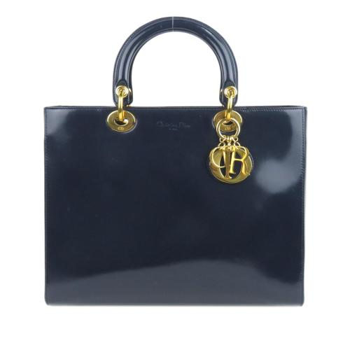 Dior Patent Leather Lady Dior Satchel