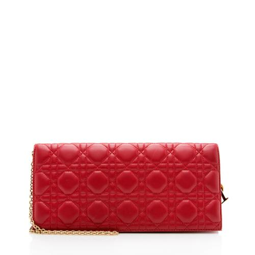 Dior Lambskin Cannage Lady Dior Convertible Clutch - FINAL SALE