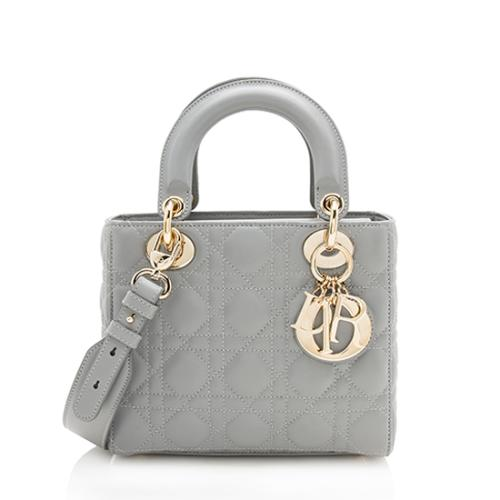 Dior Lambskin My Lady Dior Lucky Badges Small Tote