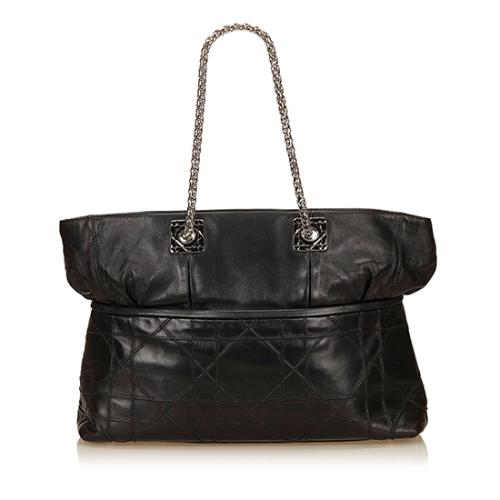 Dior Leather Cannage Granville Chain Tote