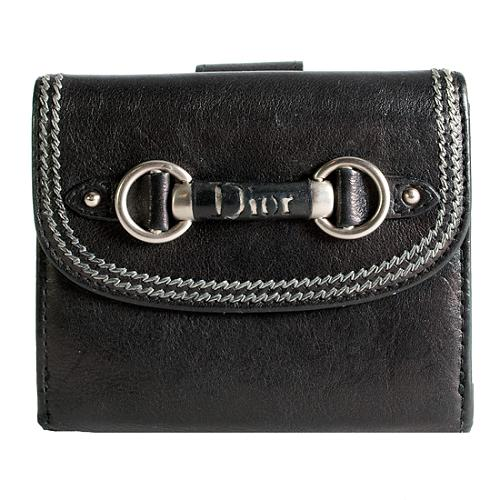 Dior Leather Compact Wallet