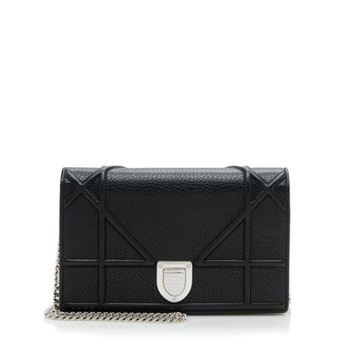 Dior Leather Diorama Wallet On Chain Bag