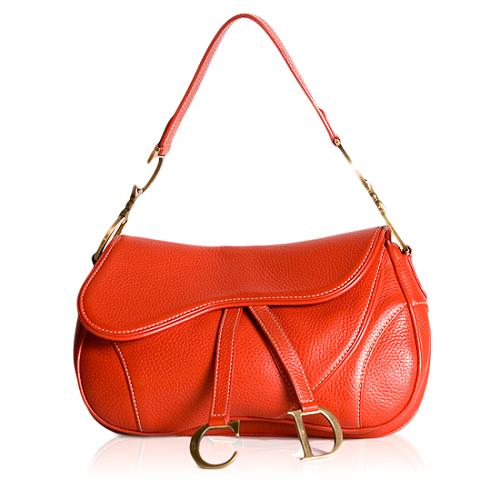 Dior Leather Double Saddle Handbag