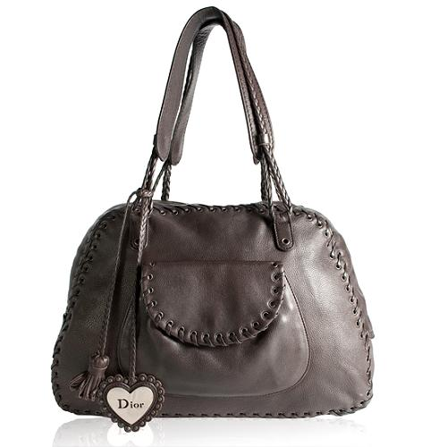 Dior Leather Ethnic Zipped Tote