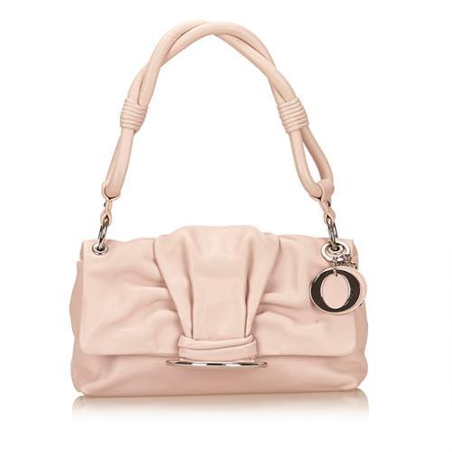 Dior Leather Demi Lune Shoulder Bag