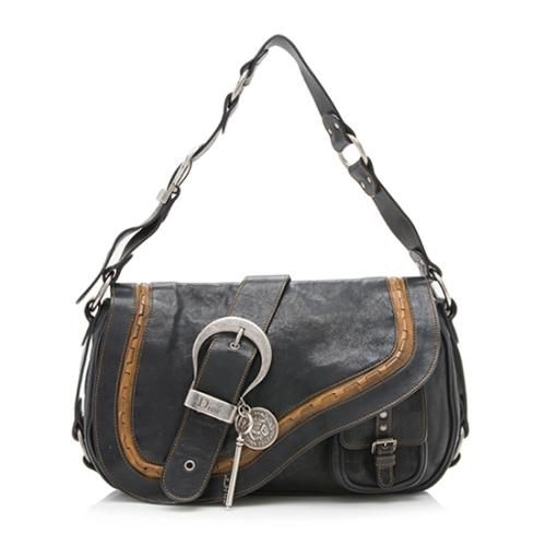 Dior Leather Gaucho Shoulder Bag