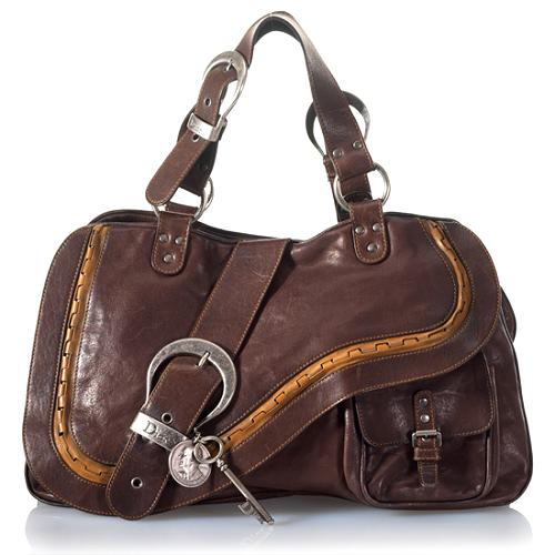 Dior Leather Gaucho Tote
