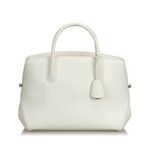 Dior Leather Open Bar Satchel