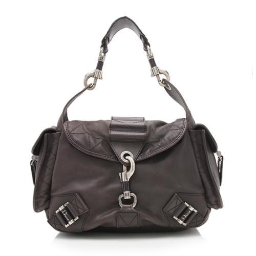 Dior Leather Rebelle Shoulder Bag