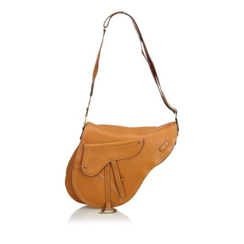 Dior Leather Saddle Bag