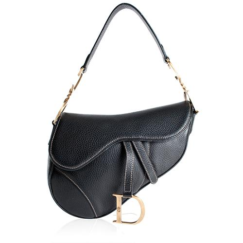 Dior Leather Saddle Shoulder Handbag