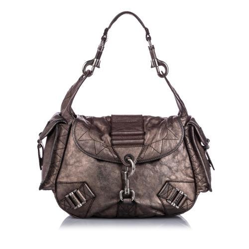 Dior Metallic Leather Shoulder Bag