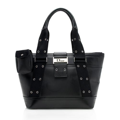 Dior Leather Street Chic Zip Tote