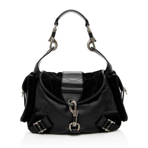 Dior Leather Suede Rebelle Shoulder Bag