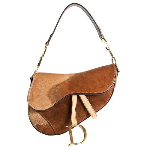Dior Limited Edition Calf Hair Saddle Handbag