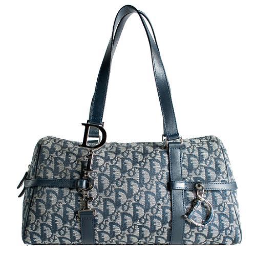 Dior Logo Charms East/West Satchel Handbag