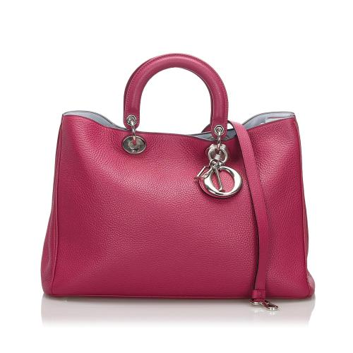 Dior Medium Leather Diorissimo Satchel