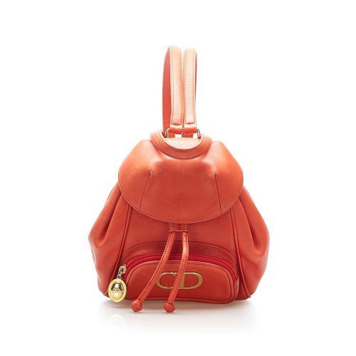Dior Mini Logo Leather Backpack