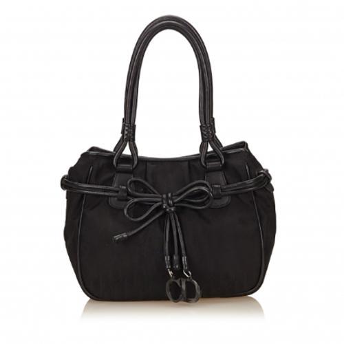 Dior Nylon Bow Charms Shoulder Bag