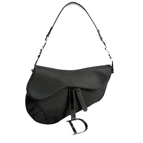 Dior Nylon Saddle Shoulder Handbag