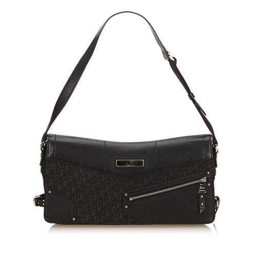 Dior Canvas Diorissimo Jacquard Shoulder Bag