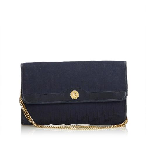 Dior Oblique Jacquard Chain Shoulder Bag