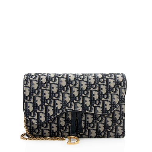 Dior Oblique Saddle Chain Clutch