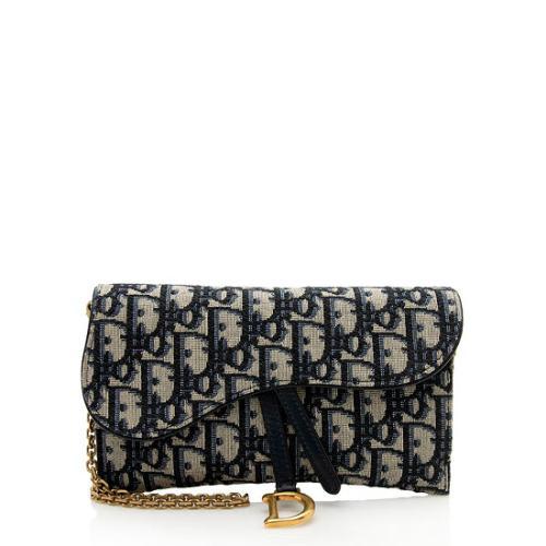 Dior Oblique Saddle Chain Wallet Crossbody