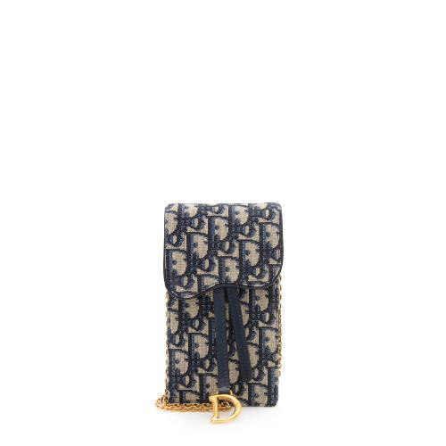Dior Oblique Vertical Saddle Pouch