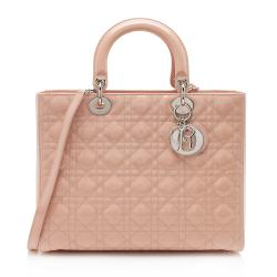 Dior Patent Leather Lady Dior Large Tote