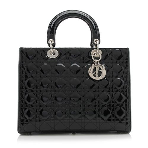 Dior Patent Leather Lady Large Tote