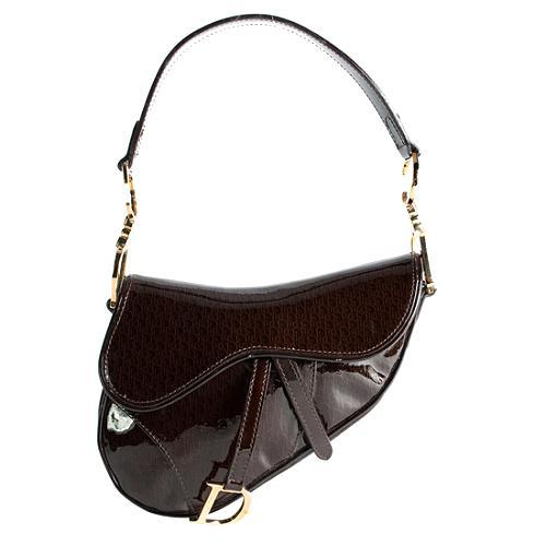 Dior Patent Leather Saddle Shoulder Handbag