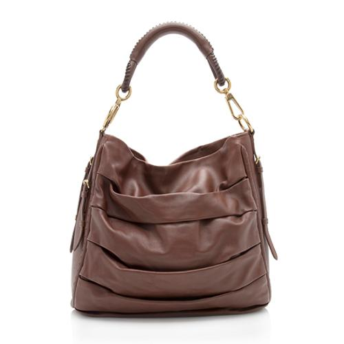 Dior Pleated Lambskin Libertine Hobo