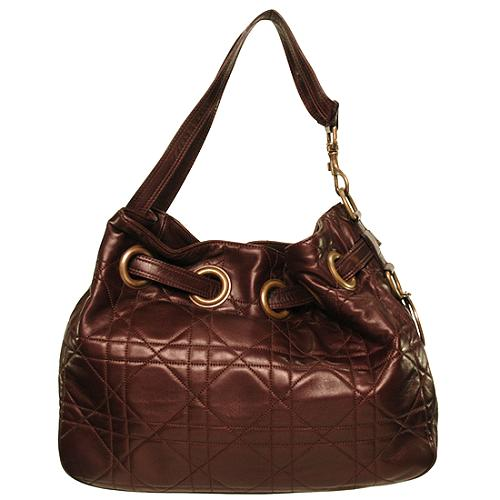 Dior Quilted Cannage Cinched Medium Tote