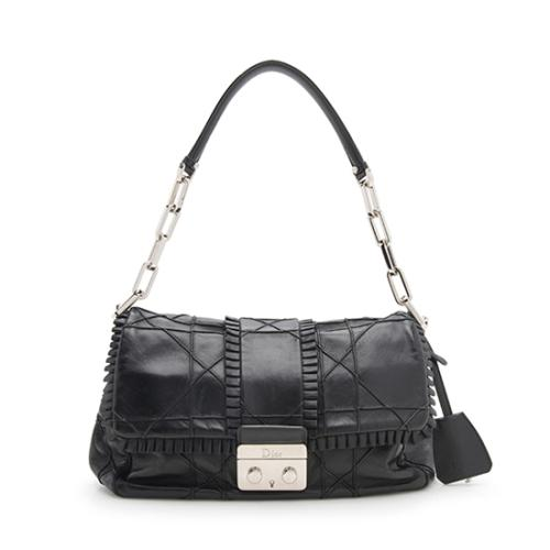 Dior Quilted Lambskin Leather New Lock Ruffle Flap Bag