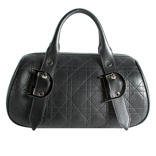 Dior Quilted Leather Cannage Small Satchel Handbag
