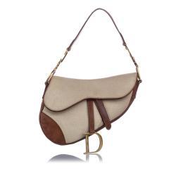 Dior Canvas Saddle Shoulder Bag