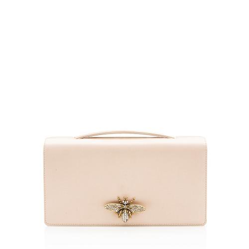 Dior Satin Crystal Bee Clutch