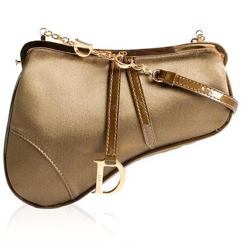 Dior Satin Saddle Evening Shoulder Handbag