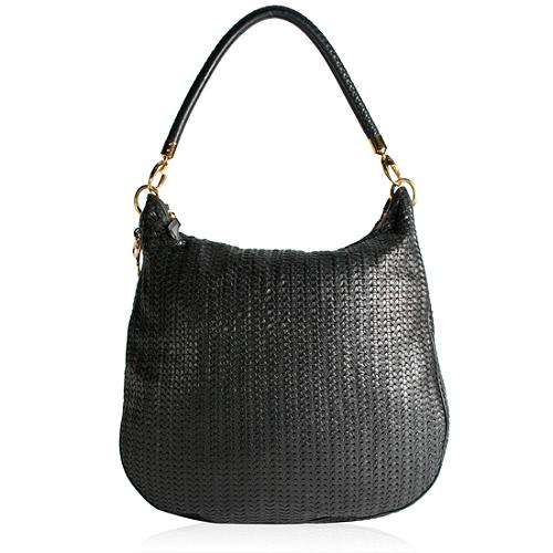 Dior Soft Lady Dior Avenue Woven Hobo Handbag