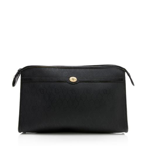 Dior Vintage Coated Canvas Logo Clutch