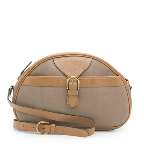 Dior Vintage Coated Canvas Logo Crossbody Bag