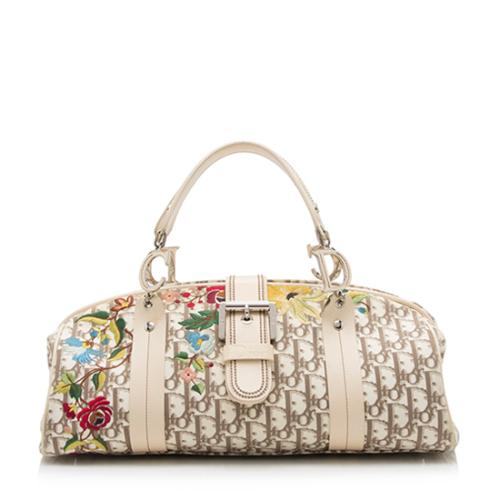 Dior Vintage Flowers Embroidered Satchel