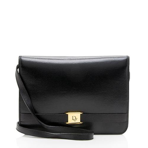Dior Vintage Leather Logo Shoulder Bag