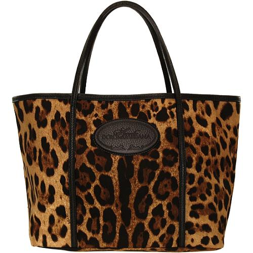 Dolce & Gabbana Animalier Medium Tote