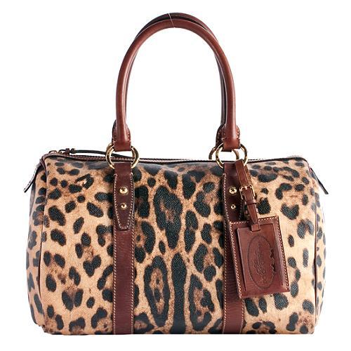 Dolce & Gabbana Animalier Satchel Handbag