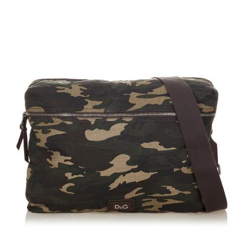 Dolce & Gabbana Camouflage Canvas Crossbody Bag