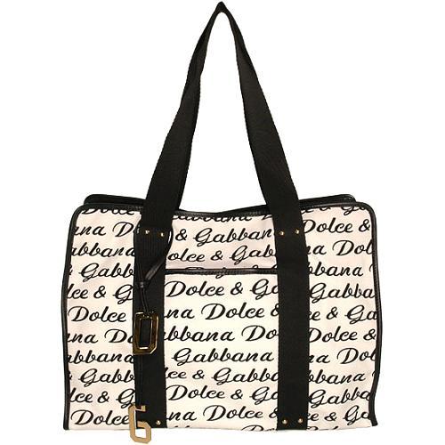 Dolce & Gabbana Canvas Logo Tote
