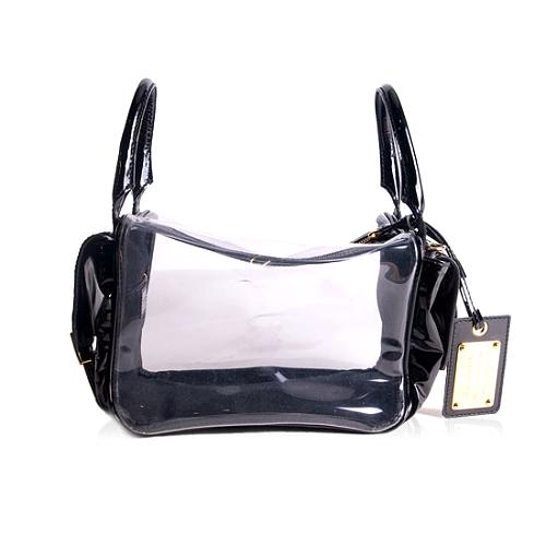Dolce and Gabbana Clear & Patent Leather Shoulder Handbag