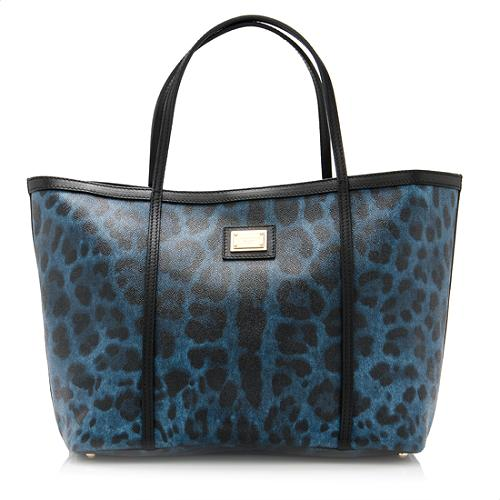 Dolce & Gabbana Coated Canvas Crespo Leo Tote